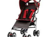 The First Years Ignite Stroller in Red Stripe is Easier