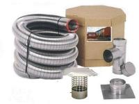 Flex-All Stainless Steel Chimney Liner Kit 4 in. x 25