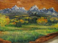 A special oil painting of the popular Grand Teton