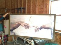 "Large framed picture of ""The Hands"" from the Creation"