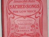 The Invincible Folio of 33 SACRED SONGS for Low Voice.
