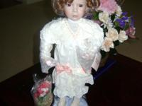 "Porclain Doll entitled ""The Little Girl with a Curl"" by"