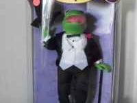 For Sale is the Muppets Porcelain Doll of Kermit. It is