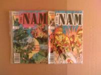 """THE NAM"" COMIC BOOKS ISSUES #1 #2 & #5 & #6 FOR SALE,"