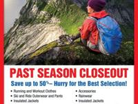 SAVE UP TO 50% ON THE NORTH FACE PAST SEASON MODELS.