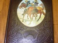Nice, leather bound old western book in very good
