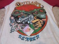 The Outlaws original vintage 1979 tour raglan jersey.