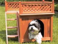 The Stable Dog House is a beautiful pet house that is a