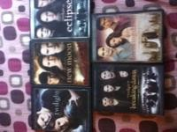 This includes ALL five movies - Twilight, New Moon,