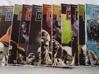 The Walking Dead trade paperback comic book lot.
