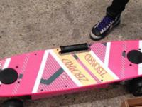 The ZBoard Hover board includes a pink deck and custom