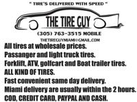 TIRES DELIVERED WITH SPEED. THE TIRE GUY.