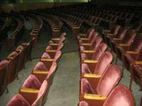 Vintage movie theater seating. Gotten rid of from