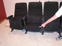 4 Black Theatre Chairs. Good condition. .  Location: