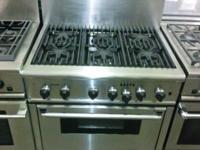 """Gently Used 36"""" 6 Burner Gas Range Only $1750. Maker:"""