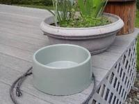 This is a big 96 ounce outdoor dog bowl that