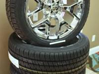"Escalade 22"" Chrome Wheels on Tires Mounted & Balanced"
