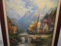 Selling A Thomas Kinkade Mountain Chapel Painting Size: