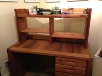 This End Up desk for sale. Strong wood, strong, will