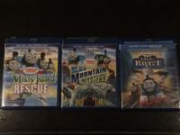 All 3 movies come with a Blu Ray AND DVD version disc.