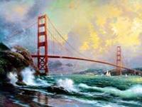 Selling 2 Thomas Kincade golden gate paintings that are