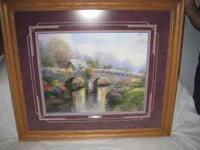 Thomas Kinkade 16 X 20 print, framed and matted