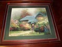 Was $175. Thomas Kinkade Heather's Hutch print nicely