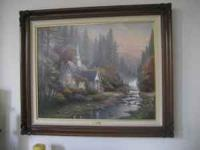 XLNT condition Kinkade Canvas painting for sale: 24X30