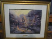 "Thomas Kinkade ""The Night Before Christmas"" paper oil"