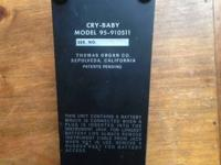 Vintage Thomas Organ co, Crybaby pedal In good working