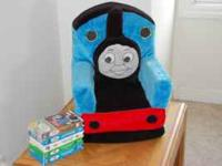 Thomas the Tank chair (toddler sized), bedspread and 5