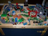 NILO THOMAS THE TRAIN TABLE INCLUDES DELUXE ROUNDHOUSE