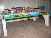 Thomas the Train table and train set. The track pieces