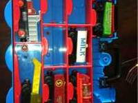 Thomas the train train holder. It holds 16 trains. I'm