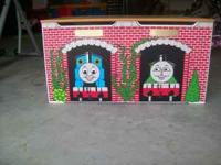 THomas the Train wooden toybox...Really nice! $50.00