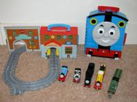 Includes Take n Play Sodor Engine Works, Track, &