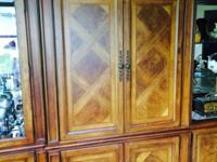 Stunning burl wood conservatory completed cabinet