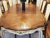 Thomasville Dining Room Set 8 Chairs, 2 Hutches, Table Pads