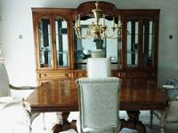 Gorgeous Thomasville Double Pedestal TableMeasurement