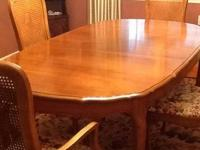 HELLO YOU LOOKING AT DINNING SET, HUTCH, 6 CHAIRS &