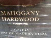 Mahogany flooring 22.79 sf per box, total of 6 boxes,