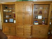 Thomasville oak home entertainment center for that