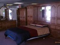 Beautiful 9 Piece Bedroom Set. New Queen Size Matress