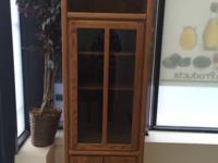 Thornwood Storage Cabinet Glass Door Display 5 Shelf.