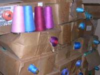 Thread lots of colors $1.00 per spool.  Location: Vers.