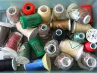 Serger thread, mostly new. 24 spools total. CALL: