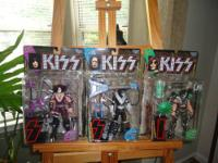 Three--1997 McFarlane KISS Ultra Action Figures in the
