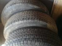 Hey there I'm presently selling 3 trailer tires. Two