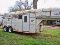 Selling 1998 three horse Slant horse trailer. Has all