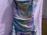 Gorgeous Blue Watercolor Design. Above The Knee Dress,